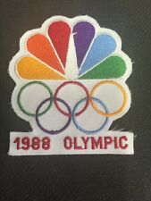 Large Vintage NBC Logo 1988 Olympic Games Olympic Rings Sew-on Patch.   B3