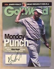 Vijay Singh Signed Golf World Magazine Autograph with COA.