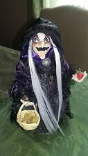 "Barbie OOAK Hag 12"" Witch Disney Snow White New With Stand Apple New"