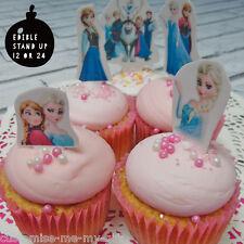15 Disney Frozen Edible Cupcake / Cake Toppers **Stand Ups** Princess Elsa Olaf