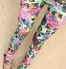Rainbow Doodle Leggings - 8 - 12 UK, Graffiti, grunge, arte, tie dye, arte hippy