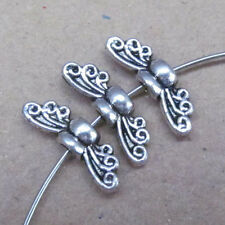 30pc Tibetan Silver Bee Angel wings Spacer Charms Beads Accessories GP038