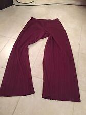 Pantalon Bordeaux Pleats Please Issey Miyake  Taille 4