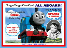 THOMAS THE TRAIN CUSTOM PRINTABLE BIRTHDAY PARTY INVITATION & FREE TY CARD