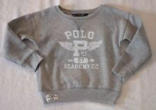 BOYS SIZE 4/4T POLO RALPH LAUREN COTTON-BLEND SWEATSHIRT GRAY NWT