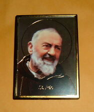 2 -ST SAINT PADRE PIO PETROCINA Magnet Frame Pic NEW Franciscan