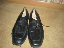 Men's Man's Shoes Pronto-Uomo Tie Dress Casual Black Size 10 1/2 Medium 10.5