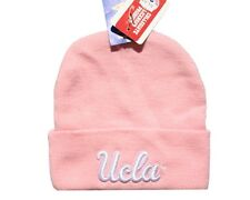 UCLA BRUINS OFFICIAL LICENSED KNIT CAP / BEANIE CAP, FRONT & BACK LOGO NWT