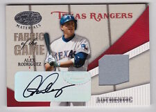 2004 LEAF CERTIFIED ALEX RODRIGUEZ FABRIC OF THE GAME AUTOGRAPH AUTO JERSEY 3/3