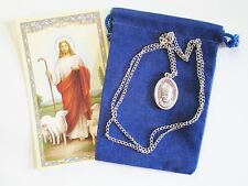 St. Medal Pope John Paul II & Basilica + 24 In Necklace