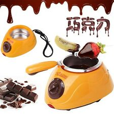 Hot Chocolate Melting Pot Electric Fondue Melter Machine Set DIY Tool NEW LIA