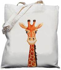 Cute Giraffe Gift  Natural Cotton cream Shoulder Bag 100% Cotton Tote Bag