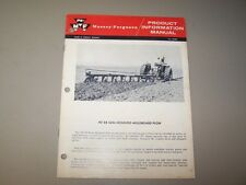 1960's MF 88 MOUNTED MOLDBOARD PLOW MASSEY FERGUSON PRODUCT INFORMATION MANUAL