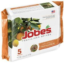 (1) JOBES 5 PACK FRUIT TREE FERTILIZER SPIKES NUT AND CITRUS TREES SPIKE 01002