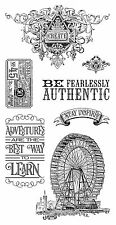 Graphic45 Cling Stamps-WORLD'S FAIR #3 scrapbooking Set of (7) VINTAGE ADVENTURE