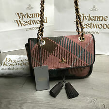 BNWT VIVIENNE WESTWOOD Signature Winter Tartan bag RRP €525 100% Genuine