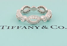 0.41 ct Tiffany & Co Platinum Round Diamond Swing Ring Eternity Band Size 4.5