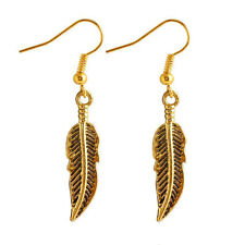 Fashion Vinatge Charm Women lady Gold Plated Leaf drop Dangle Earrings