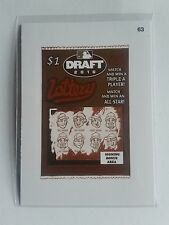 2016 Wacky Packages MLB Sepia #63 MLB Draft Lottery Ticket