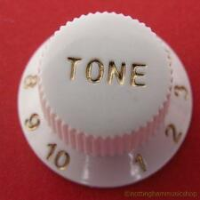 WHITE ELECTRIC GUITAR ST TONE KNOB CONTROL NEW