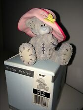 "RARE LARGE 8cm 3"" HIGH BOXED ME TO YOU FIGURINE TATTY TEDDY BEAR~ PRETTY IN PINK"