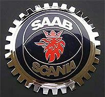 SAAB Scania Owner Car Grille Badge NEW! Saab Grille Badge