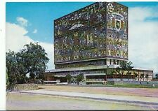 Mexico Postcard - Central Library at The National University of Mexico   8004