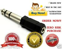 3.5mm Stereo Socket to 6.3mm 6.35mm 1/4 Jack Headphone Adapter C