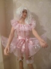 Sissy Pink Sheer Shimmer Organza ,Wench, Frothy, AB, Negligee/Dress, Cd Tv,
