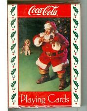 "Sealed Deck ""Santa/Dog Coca Cola"" Standard Playing Cards, 1993, USPC"