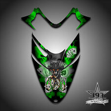 Polaris IQ RMK Shift Dragon Hood Graphics Decal Sticker  05-12 Outlaw Green