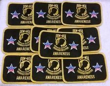 Dealers Wholesale Lot Of 10 POW MIA Awareness Embroidered Biker Patches