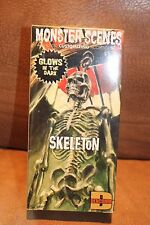Monster Scenes Skeleton Glows In the Dark..Free Shipping!! Sealed ...Halloween..