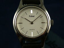 Vintage Retro Pulsar Womens Quartz Dress Watch Circa 1980s NOS, Rare Model