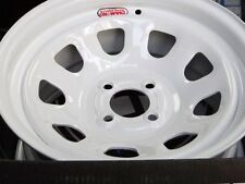 15X8 WHITE 4X100 DIAMOND RACING WHEELS ET12 OFFSET JDM CIVIC MIATA