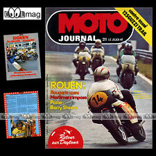 MOTO JOURNAL N°211 ROUEN MICHEL ROUGERIE JEAN-PAUL BOINET GUZZI 125 TT 1975