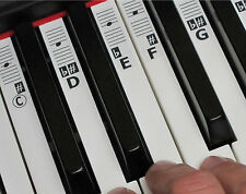 Music Keyboard Note Stickers - 52 Labels (for 49-88 Keys) + Online Piano Lessons