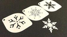 #7.2 juego de plantillas de copos de nieve Navidad 3 un. tarjeta de Navidad Pastel Polvo Pintura Artesanía