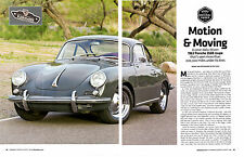 1963 PORSCHE 356B COUPE ~  NICE 4-PAGE ARTICLE / AD