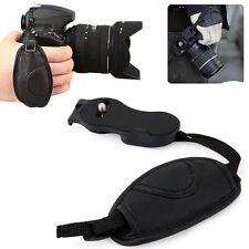 Cinghia Da Polso Impugnatura Maniglia Fotocamera Nera Pentax cuoio Nikon