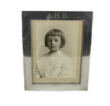 George A. Henckel Sterling Silver Photo Frame sepia photo young boy c1920