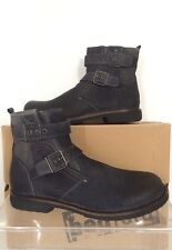 Bed Stu Mens Trade Grey Suede Brushed Leather Boots 8.5