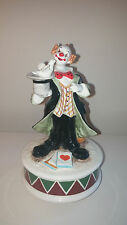"Schmid Musical Collectible, Ceramic Clown/Magician song ""Send in the Clowns"""