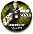 BRIAN SETZER ROCKABILLY ROCK GUITAR TABS TABLATURE SONG BOOK SOFTWARE CD