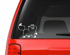 """Prancing Kitty Cat Decal Sticker - White 5"""" Vinyl Decal for Car, Macbook"""