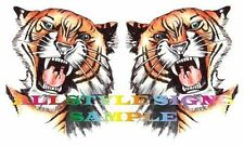 ANGRY TIGER HEAD CAR MOTORBIKE WALL TILE  DECALS, STICKERS