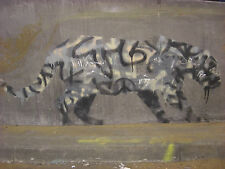 banksy leopard wall decor graffiti art painting  canvas or paper 800mm