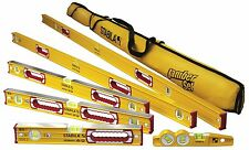 Stabila 78196 Complete 6 Non-Magnetic level set with case (Brand New Set)