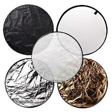 60cm 5 in 1 Collapsible Portable Photography Round Camera Reflector Kit Supplies