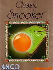 Classic Snooker (Anco 1987) Commodore 64 Game - GC & Complete - See Pics